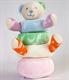 Детские товары Киев. Детские игрушки.Мягкие игрушки. LINDO Мягкая велюровая пирамидка в виде медведя