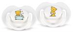 """Детские товары Киев. Аксессуары Киев.Пустышки. AVENT Пустышка от 0 до 3 мес., """"Мишки"""" 2шт., силиконовая"""