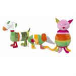 Детские товары Киев. Детские игрушки Киев.Мягкие игрушки. ANNA CLUB Разноцветные зверюшки: кот, собака, мышь 46см