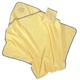 Детские товары Киев. Купание.Полезные мелочи. BEBE-JOU Полотенце с капюшоном махровое (желтый)