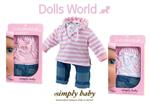 Детские товары Киев. Детские игрушки Киев. Dolls World Джинсы и рубашка для пупса SimplyBaby, 2 ассорт.