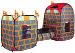 """Детские товары Киев. Детские игрушки Киев.Домики и палатки самораскладные. Bruno Bear  3-в-1 самораскладной супернабор """"Крепость"""""""