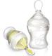 Детские товары Киев. Аксессуары. NUBY  Бутылочка  силиконовая с силиконовой ложечкой для кормления 210мл 3+